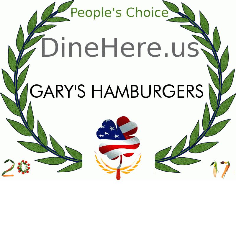 GARY'S HAMBURGERS DineHere.us 2017 Award Winner